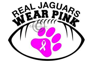 Jaguar Football Svg, Pink Svg, Paw Dxf, Real Jaguars Wear Pink Svg