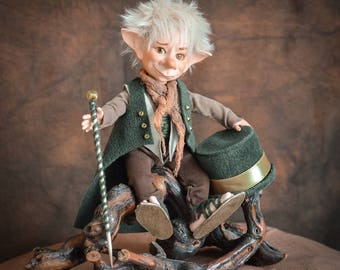 Goblin doll Valentines Day gift for him art doll collectible doll elf doll porcelain doll posable elf fantasy home decor LIMITED EDITION