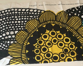 """Marimekko """"Siirtolapuutarha"""" 100% cotton fabric remnant"""