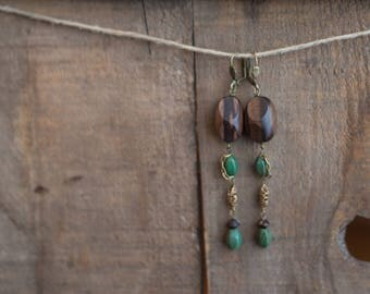 Wood Cascade Earrings