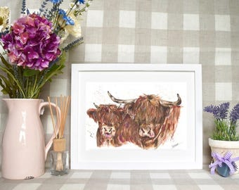 Limited edition ' Highlands' print