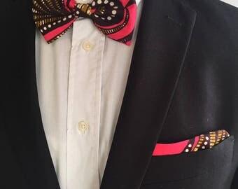 Bow tie for men Fuchsia