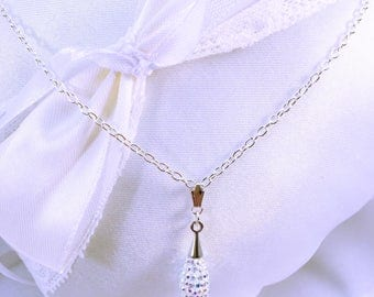 Wedding gift bridesmaids witnesses or guests rhinestone sparkle necklace