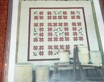 Vintage Minnesota Lily Plum Creek Patchwork Quilt Pattern
