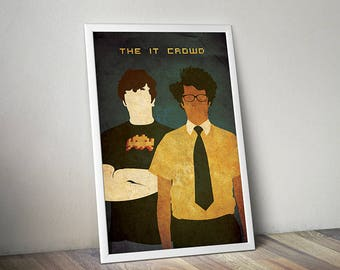 The IT Crowd poster alternative movie poster movie poster tv show poster Roy Moss England poster Computer poster GEEK poster nerd poster