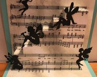 Handmade pop up Fairy Birthday card