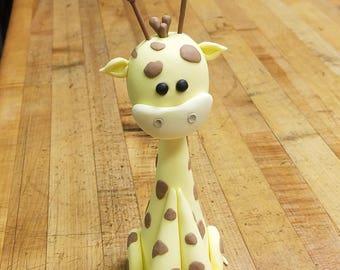 Cute Giraffe Fondant Cake Topper (MADE TO ORDER)