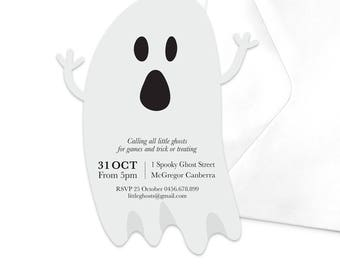 Ghost Halloween Party Invitation / Friendly Ghost Halloween Party Invitation /  Printable Halloween Invitation