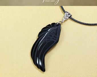 Protection pendant, Black Obsidian pendant, Wing pendant, Protection Jewelry, Protection Device, Negativity Neutralizer, InfinityCraftArts