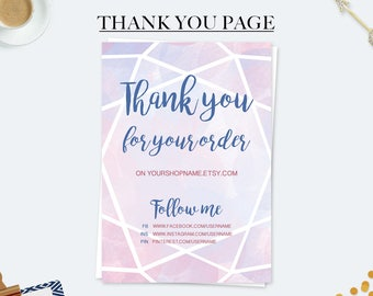 Marketing cards, thank you for your purchase cards, thank you for your order, thank you notes, business thank you cards, etsy seller cards