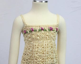 Flower Garden Tank Crochet Pattern *PDF DOWNLOAD ONLY* Instant Download
