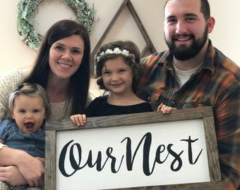"""12""""x24"""" Our Nest"""