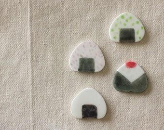 Handmade Japanese food Rice ball Pin