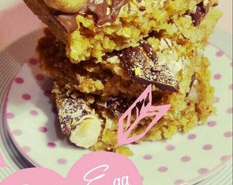 Easter Egg Flapjack, Creme Eggs, Mini Eggs, Chocolate Flapjack, Family Sharer, Night In, Traybake, Alternative Easter Gift, Easter Treat