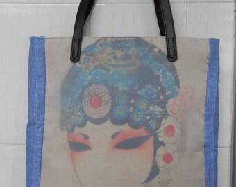 Vintage Large Tote Bag Womens Shoulder Handbag