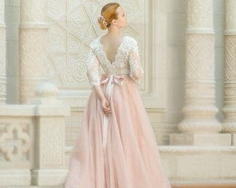 Plus Size Wedding Dress, Plus Size Bridal Gown, Wedding Dress With Sleeves Plus  Size