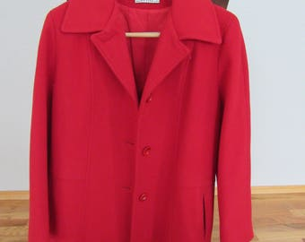 Vintage Herman Kay Women's Wool Blend Coat Size Small Petite Free Shipping
