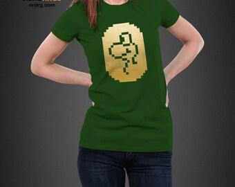 Yoshi Gold Coin T-shirt - Super Mario Bros Inspired Shirt Design - Yoshi Unisex Tee - Custom Shirts Available