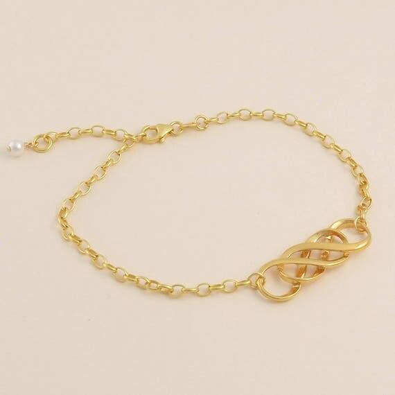 Gold Double Infinity Bracelet Infinity Jewellery Gift For