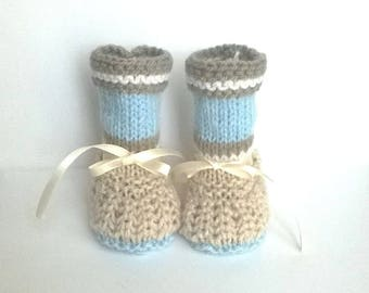 0/3 months BOOTIES baby boy shoes