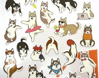Japanese Shiba Inu stickers! Kawaii stickers, cute planner stickers, dog stickers, Shiba stickers, Japanese stickers, cute stickers, puppy
