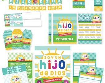 2018 LDS Primary Bundled Package - SPANISH - I am a child of God Printables - Sun Theme - MB