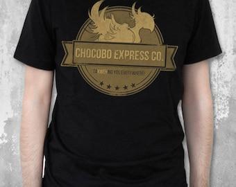 Chocobo Express Co - Final Fantasy T-Shirt FFVII inspired Chocobos Shirt Video Game Tee