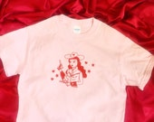 Cowgirl Lola -  White or Pink Tees / T Shirt - Unisex Sizes