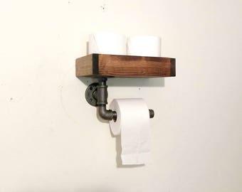 Toilet Paper Holder, Rustic Farmhouse Bathroom Decor, Rustic Toilet Paper Holder
