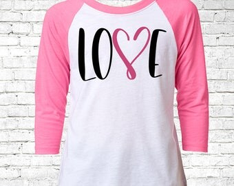 Girls Valentines Shirt, Valentines Youth Shirt, Custom Valentines Raglan, Valentines Day Outfit, V-Day Tee, Love Baseball Tee