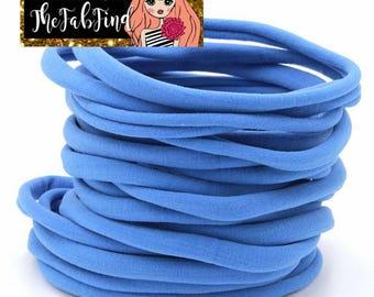 Blue Nylon Headband | One Size Fits All Headband | THIN Soft Nylon Headband for baby and adults| Premium Infant & Baby Headbands | BULK
