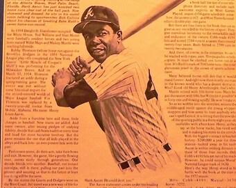 1972 Hank Aaron Record Breaking Year (Career Home Runs) Matted Vintage Print