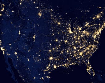 USA Map, City Lights, Map USA, Map City, USA City Map, City Usa, City Lights Usa, Lights Map, City Map Usa, Map Lights City Usa, Space Photo