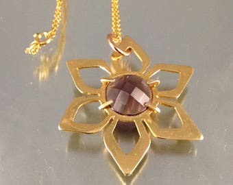 Cherry blossom necklace |Amethyst necklace