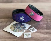 Mouse Head Decal in Rainbow Sequins for the Magic Band, decal only - Magic Band Decals - Magic Band Stickers - Mouse Head Decals - Decal