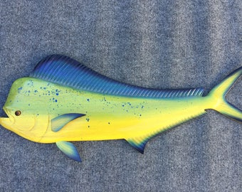 Dolphinfish Wood Carving