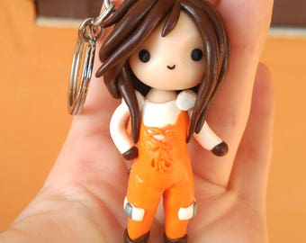 Garnet final fantasy 9 Keychain or Necklace handmade chibi gamer