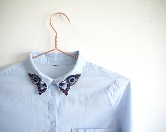 Embridered Butterfly Collar Shirt