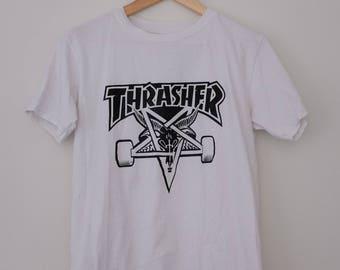 Vintage White Classic Thrasher T-Shirt
