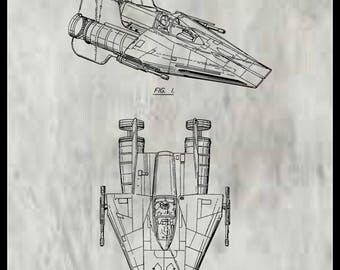A-Wing Fighter  Patent #277200 Dated January 15, 1985.
