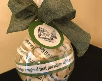 Dewey Decimal Classification Ornament; Gifts for librarians; Library; Bookworms