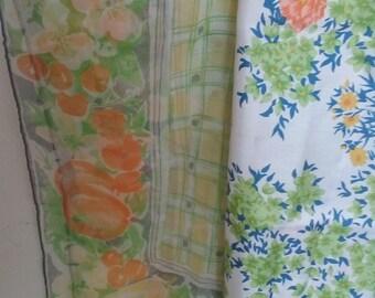 Pair of Vintage Silk Scarves