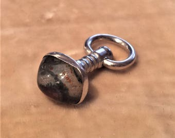 Moss Agate Watch Fob