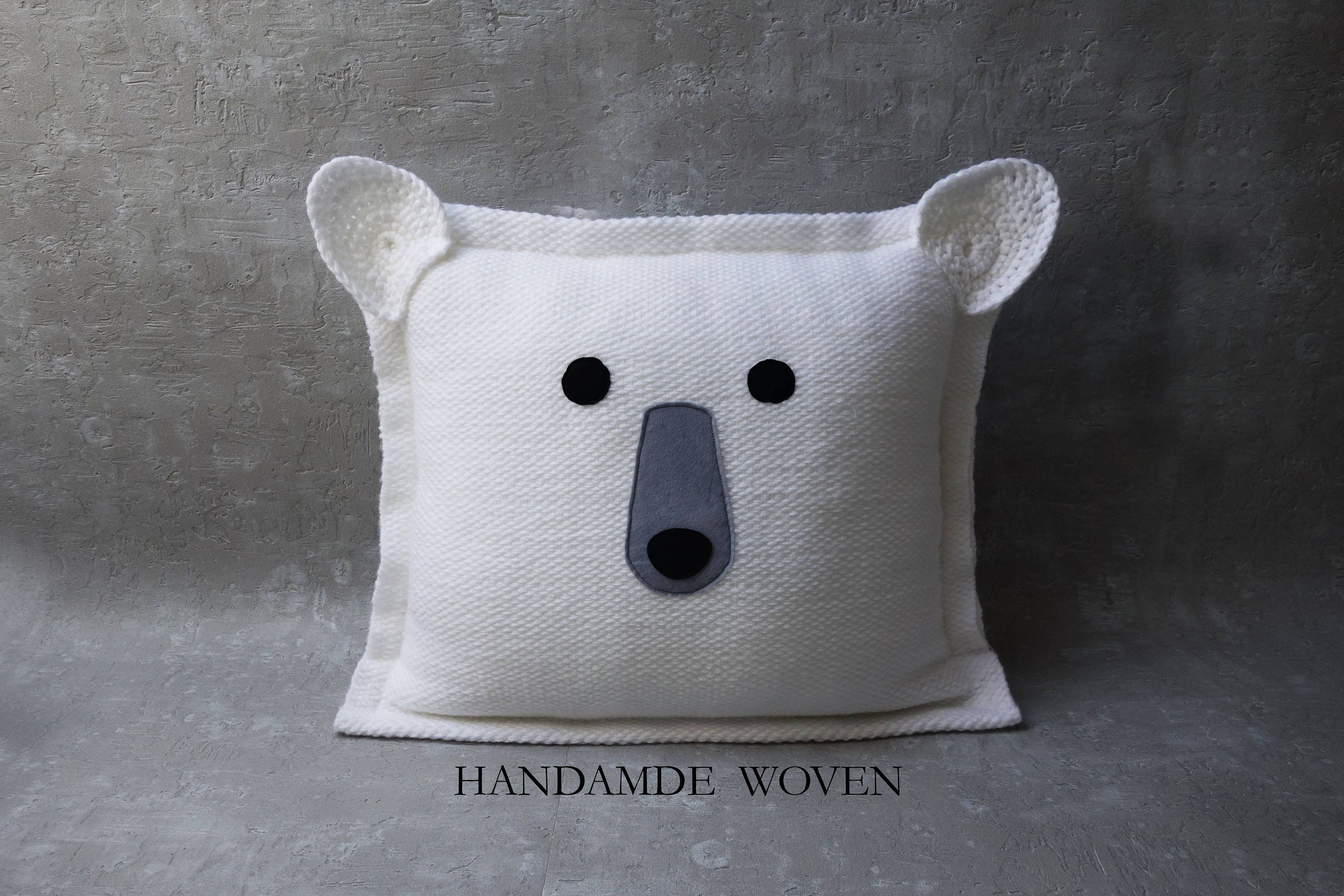 7 Inspiring Kid Room Color Options For Your Little Ones: Polar Bear Pillow Decorative Pillows Throw Pillow Nursery