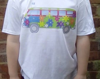 Kid's Shirt, Hippy Child, Flower Child, Peace, Hippy Clothing, Kid's Clothing, Hippy Van, Love Bus