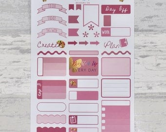 DUSKY PINKS Weekly Sampler Set - Stickers for Planners!
