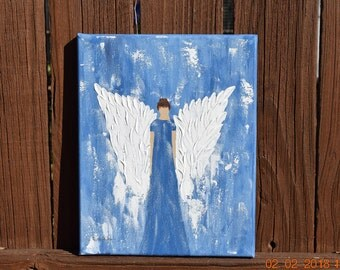 Angel of Joy handpainted on an 8x10 Canvas