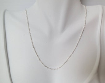 Sterling silver necklace chain,  16 inches,free shipping