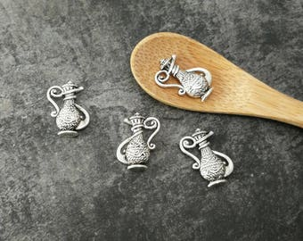 5 pcs kitchen amphora jug antique charms charms in silver