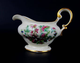"""Castleson China Creamer """"Tree of India"""", Collectible White China, Made in USA, Rare  1950s"""